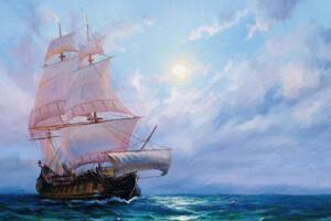 幽灵船飞翔的荷兰人号,受到诅咒永远无法返航