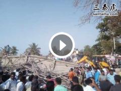 印媒:卡纳塔克邦一在建大楼倒塌,致2人死亡70人被困